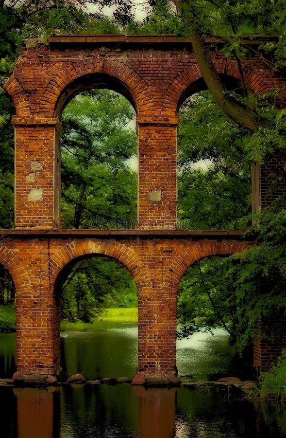 мост-водовод исторический стоковое фото