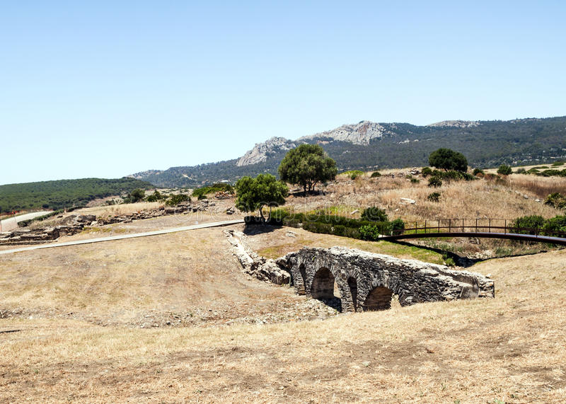 мост-водовод римский стоковое фото rf