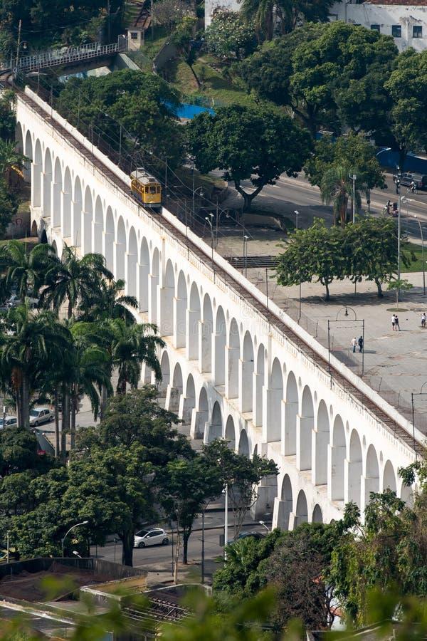 Мост-водовод сверху n Рио-де-Жанейро Carioca стоковая фотография