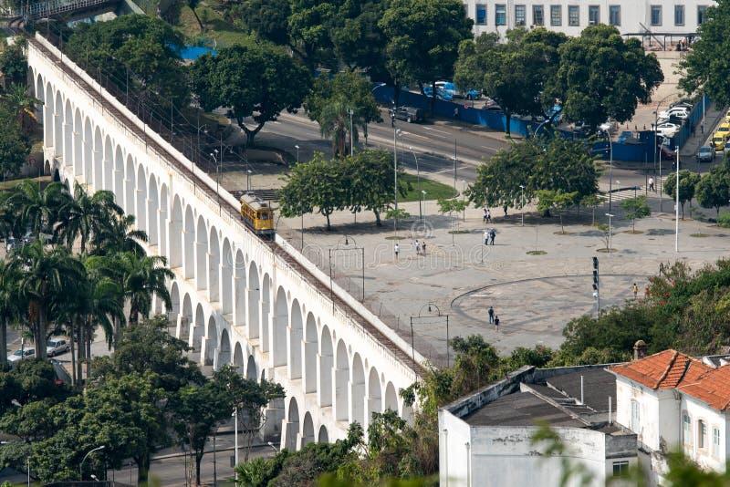 Мост-водовод сверху n Рио-де-Жанейро Carioca стоковые изображения