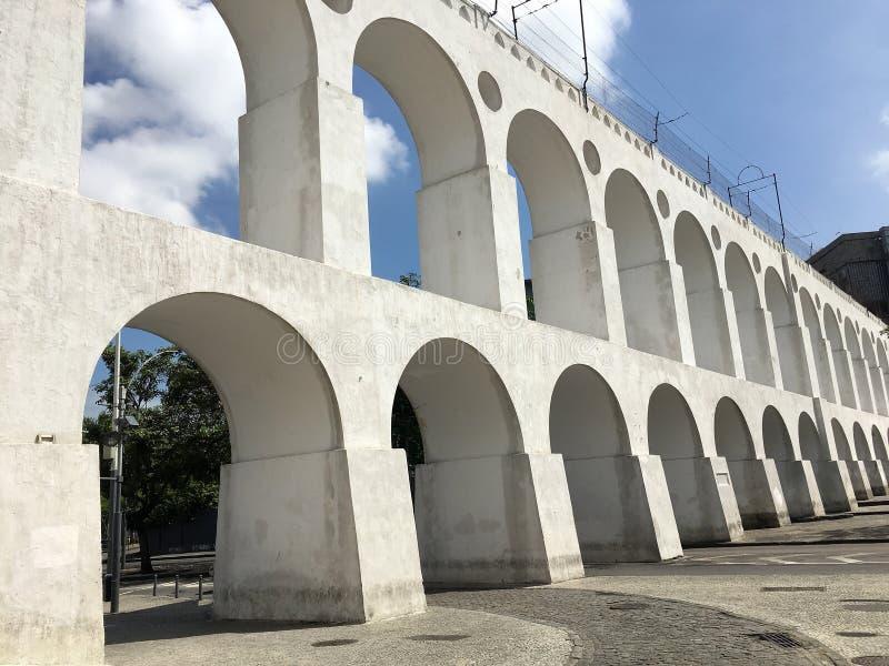 Мост-водовод Arcos da Lapa Carioca стоковое изображение