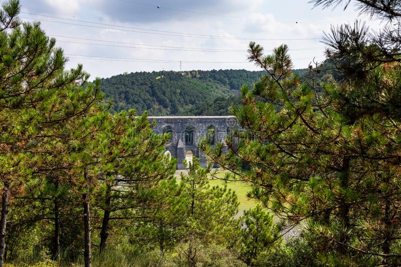 Мост-водовод Maglova, Maglova Su Kemeri в Turkish, Sultangazi, Стамбуле, Турции стоковая фотография rf