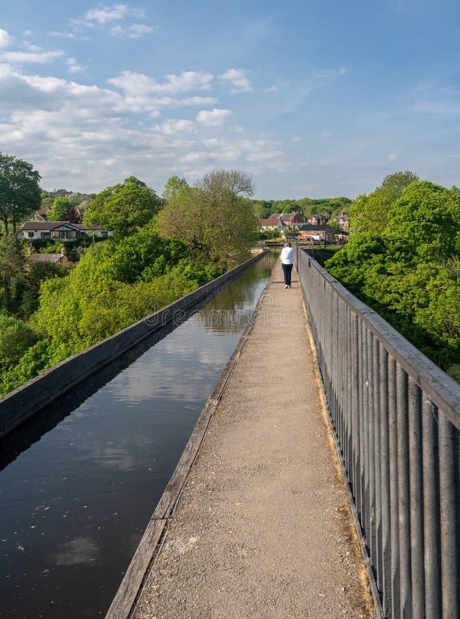 Мост-водовод Pontcysyllte около Llangollen в Уэльсе весной стоковые фотографии rf