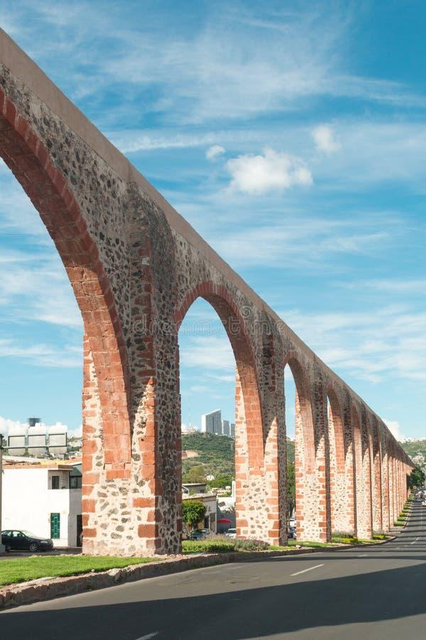 Мост-водовод Queretaro Мексика стоковое изображение rf