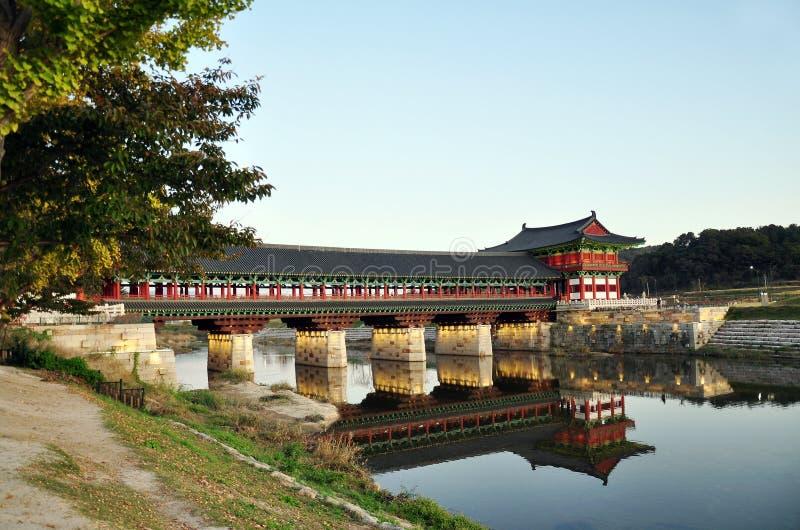 Мост Вольджонгё, Дьёнджу, Южная Корея стоковое изображение rf