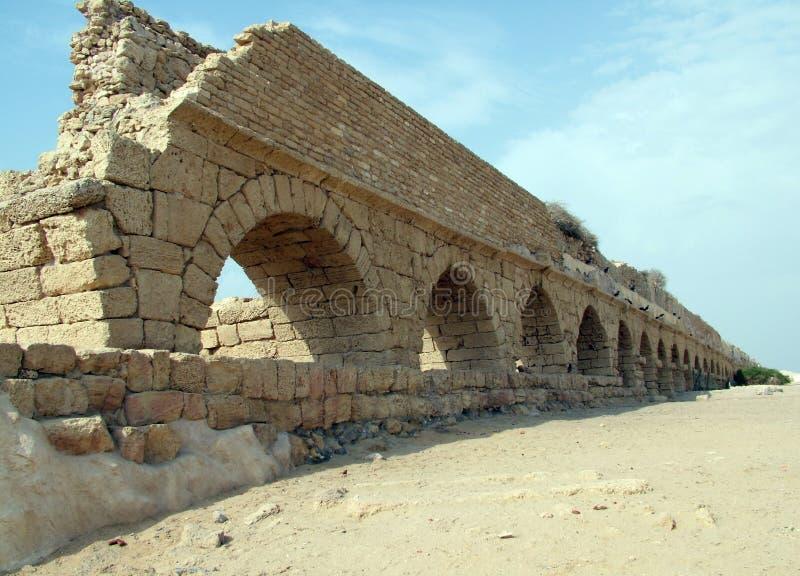 Мост-водовод в Caesarea стоковые изображения