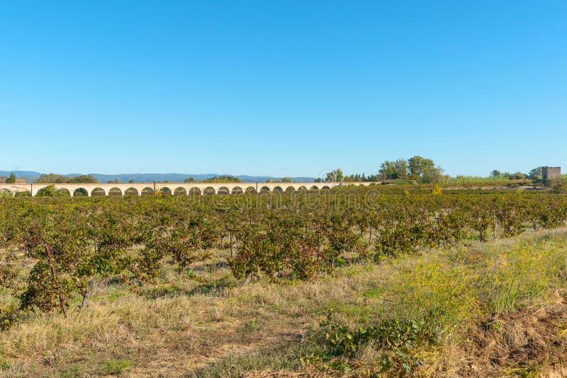 Мост-водовод на окраинах Olanzac, Франции стоковые фотографии rf
