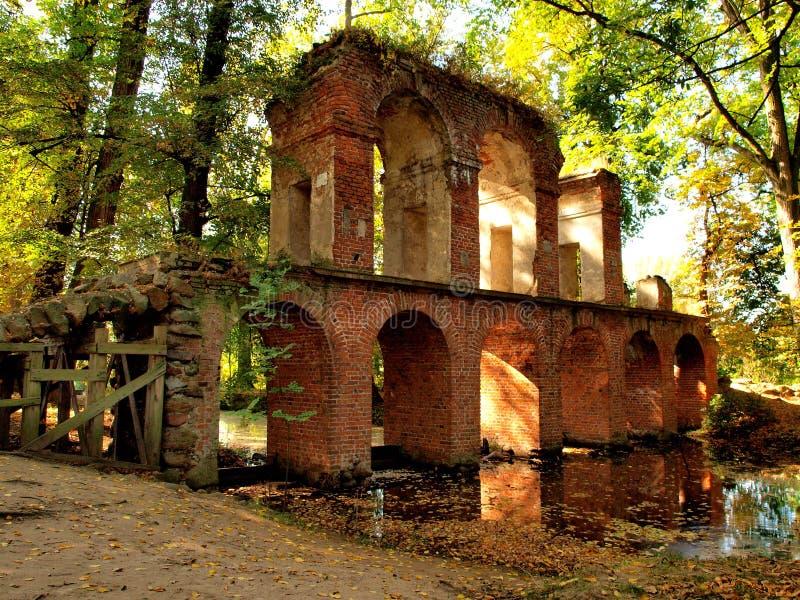 мост-водовод римский стоковая фотография
