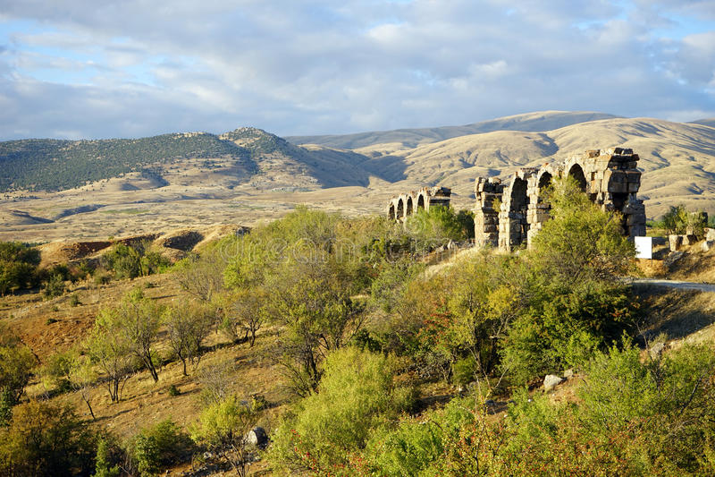 мост-водовод римский стоковое изображение rf