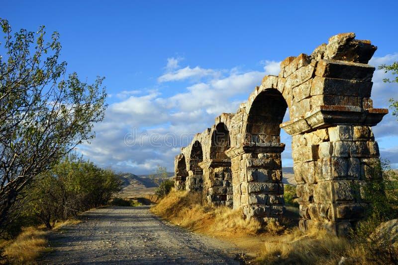 мост-водовод римский стоковое фото