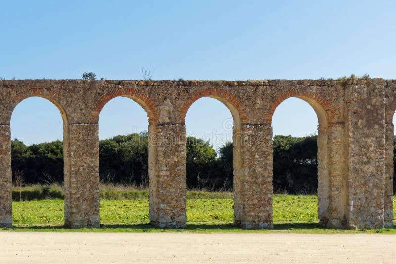 мост-водовод римский стоковое изображение