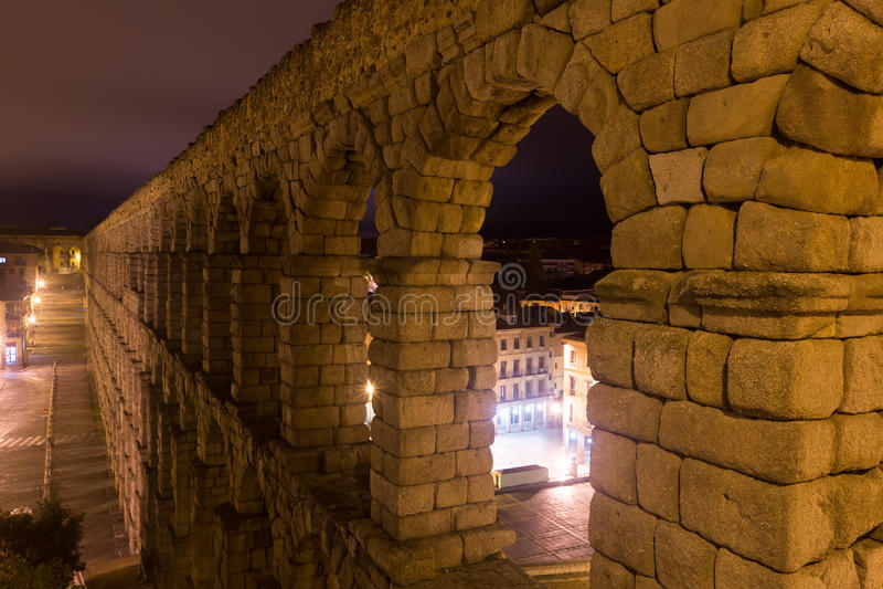мост-водовод римский segovia стоковые фотографии rf