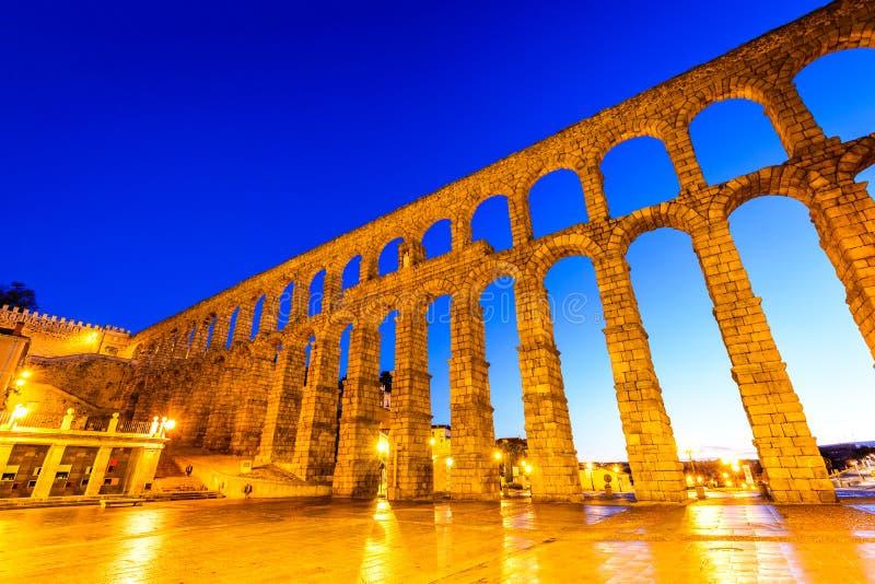 Мост-водовод, Сеговия, Испания стоковое изображение