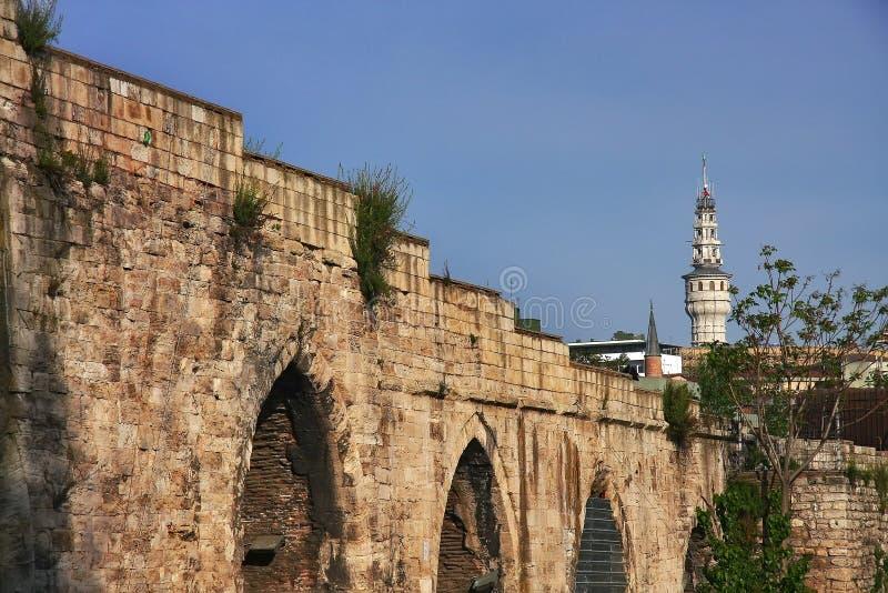 Мост-водовод Стамбула стоковые фото