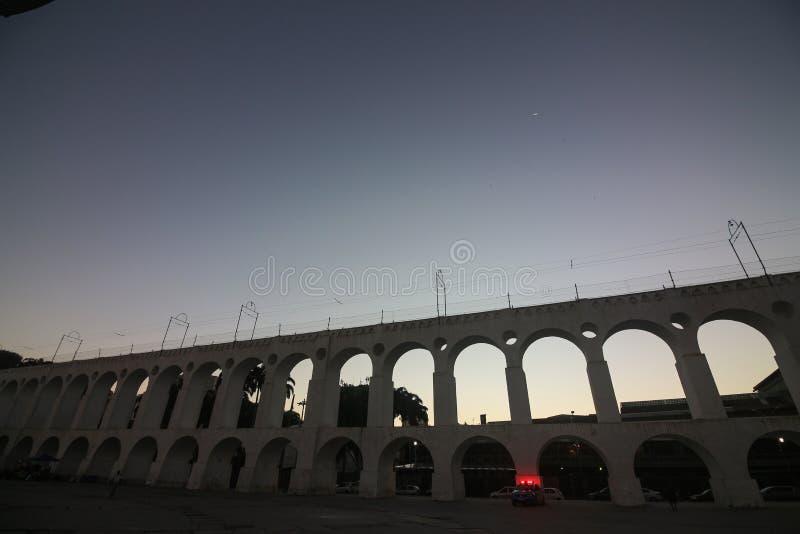 Мост-водовод Arcos da Lapa Carioca стоковые изображения rf
