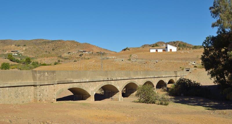 Мост-водовод Cartama стоковая фотография rf
