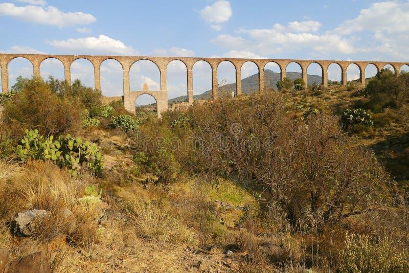 Мост-водовод Padre Tembleque v стоковые изображения rf