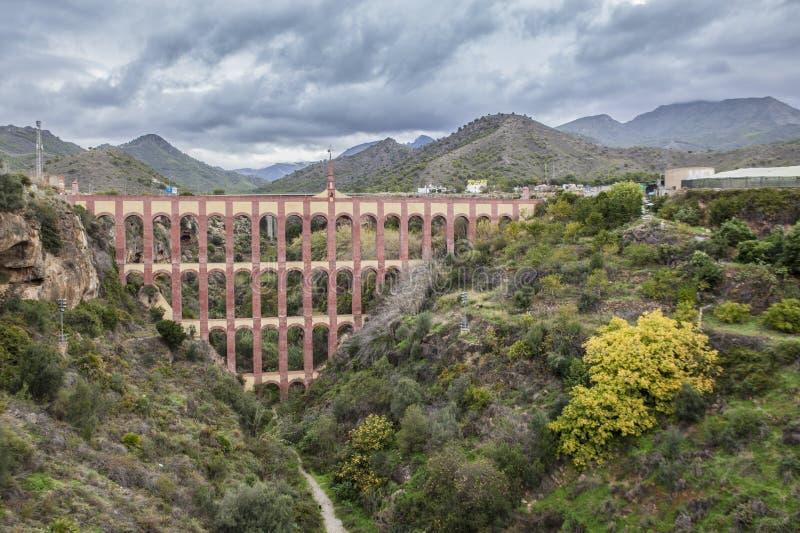 Мост-водовод Puente del Aguila, Nerja, Испания стоковые фото