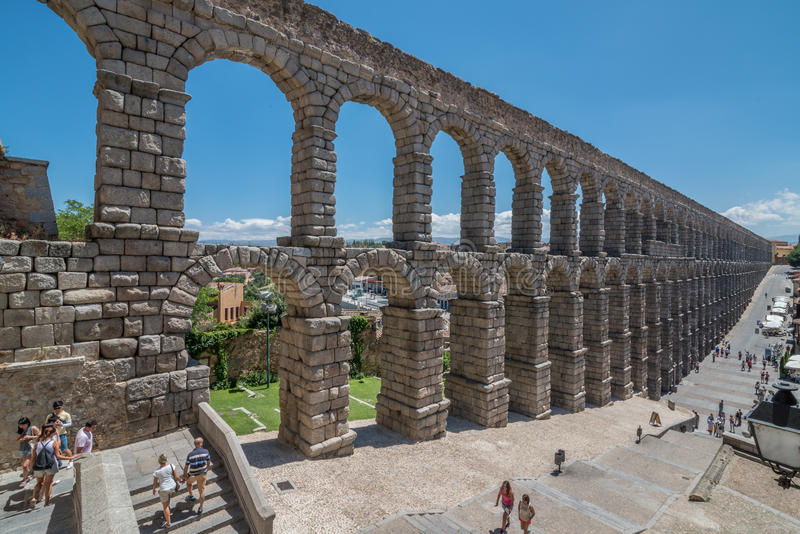 Мост-водовод Segovia, Испании стоковая фотография