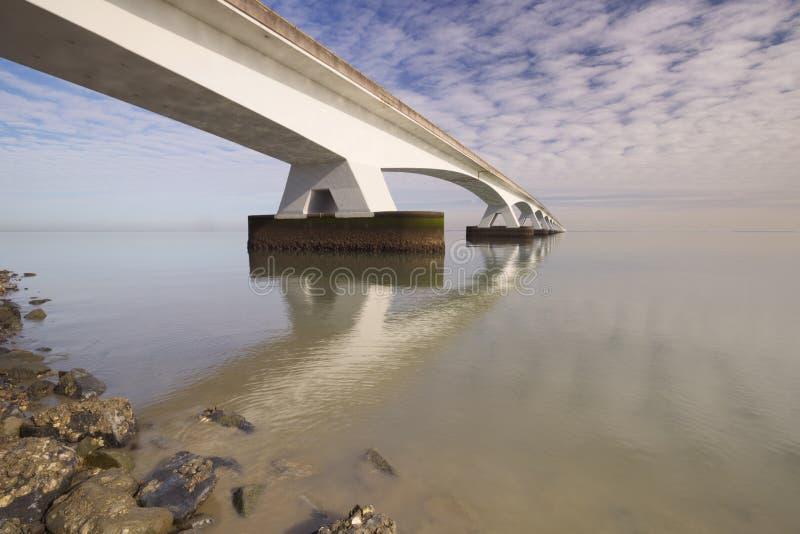 Мост в Зеландии, Нидерланды Зеландии стоковое фото rf
