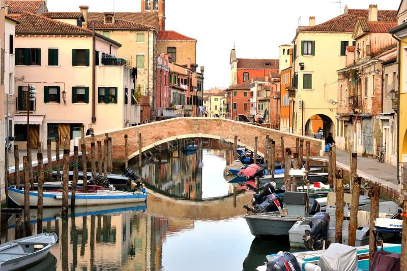 Мост в Chioggia стоковая фотография rf