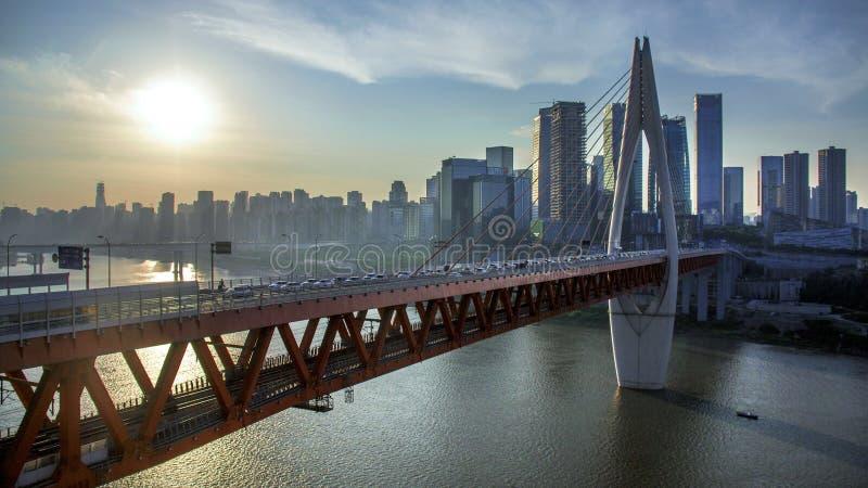 Мост в Chongqin стоковые изображения rf