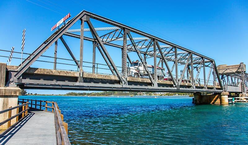 Мост в Narooma Австралии стоковые изображения