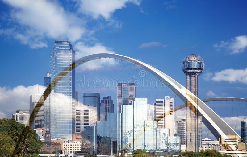 Мост городской Даллас Маргарета mc-bermott стоковые изображения rf