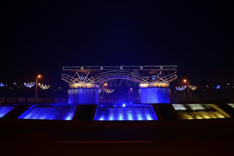 Мост города Severin traian стоковые изображения
