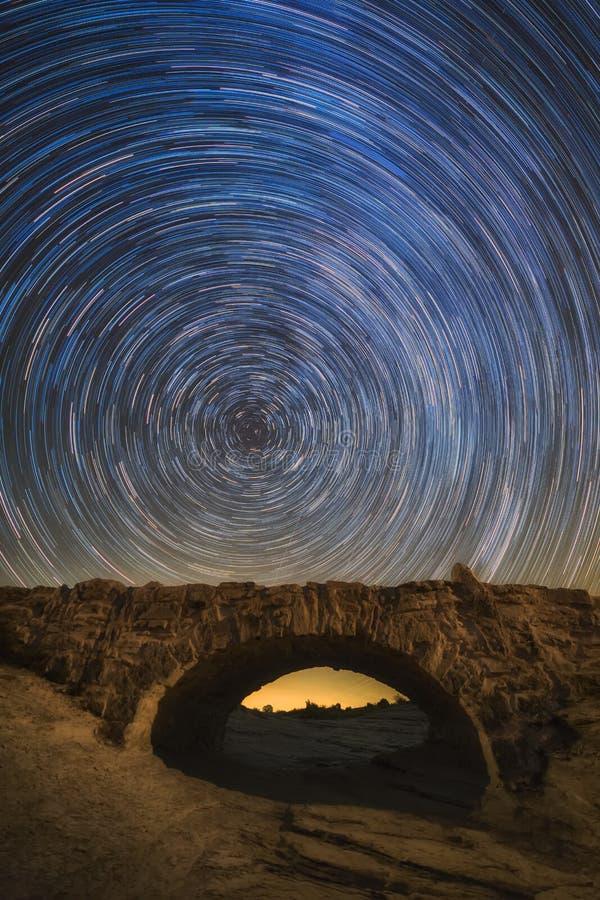 Мост звезд, звезд в движении стоковая фотография rf