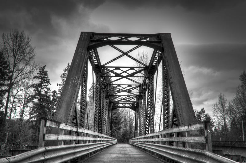 Мост зимы стоковая фотография