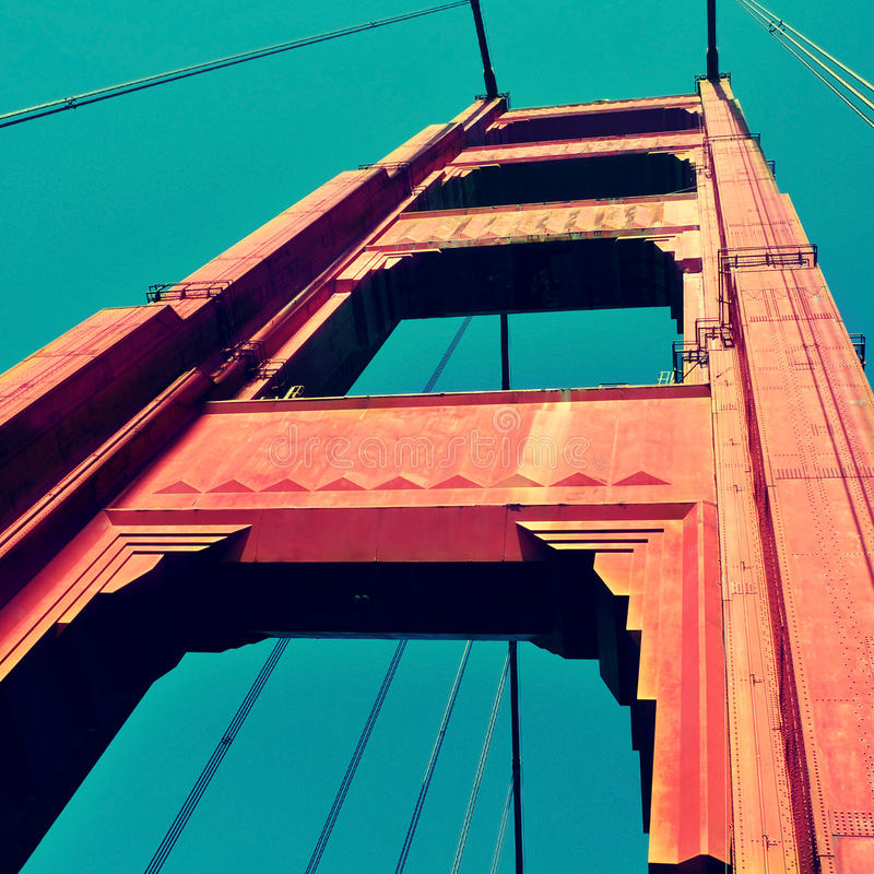 Мост золотистого строба, San Francisco, Соединенные Штаты стоковое изображение
