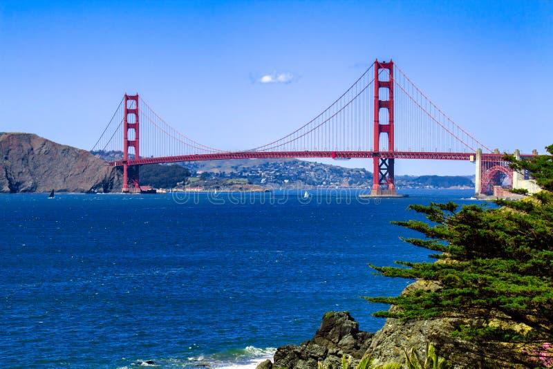 Мост золотистого строба, San Francisco, CA стоковые изображения