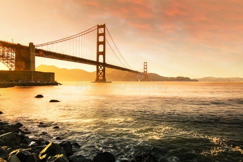 Мост золотого строба, Сан-Франциско Калифорния США стоковые фотографии rf