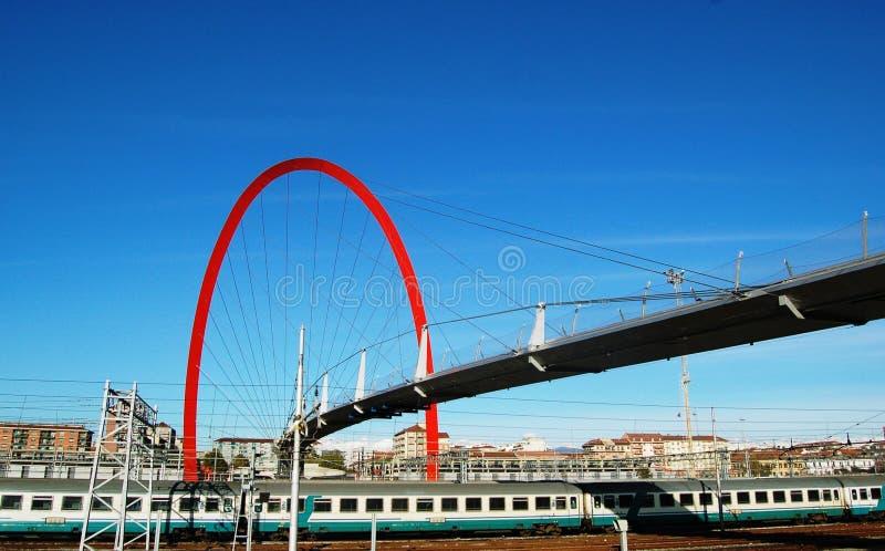 мост Италия олимпийский turin стоковое изображение rf