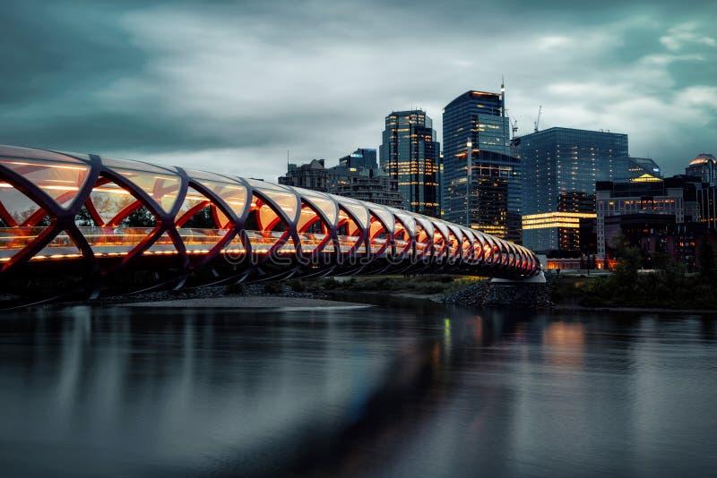 Мост Калгари мира стоковое изображение
