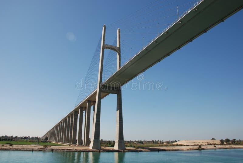 Мост канала Суэца стоковое фото rf