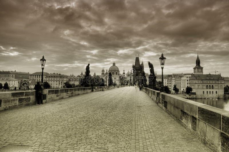 Мост Карла в Праге стоковое изображение rf
