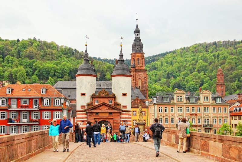 Мост Карл Theodor, Гейдельберг, Германия стоковые изображения rf