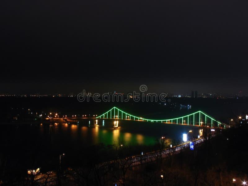 Мост Киева пешеходный стоковые фотографии rf