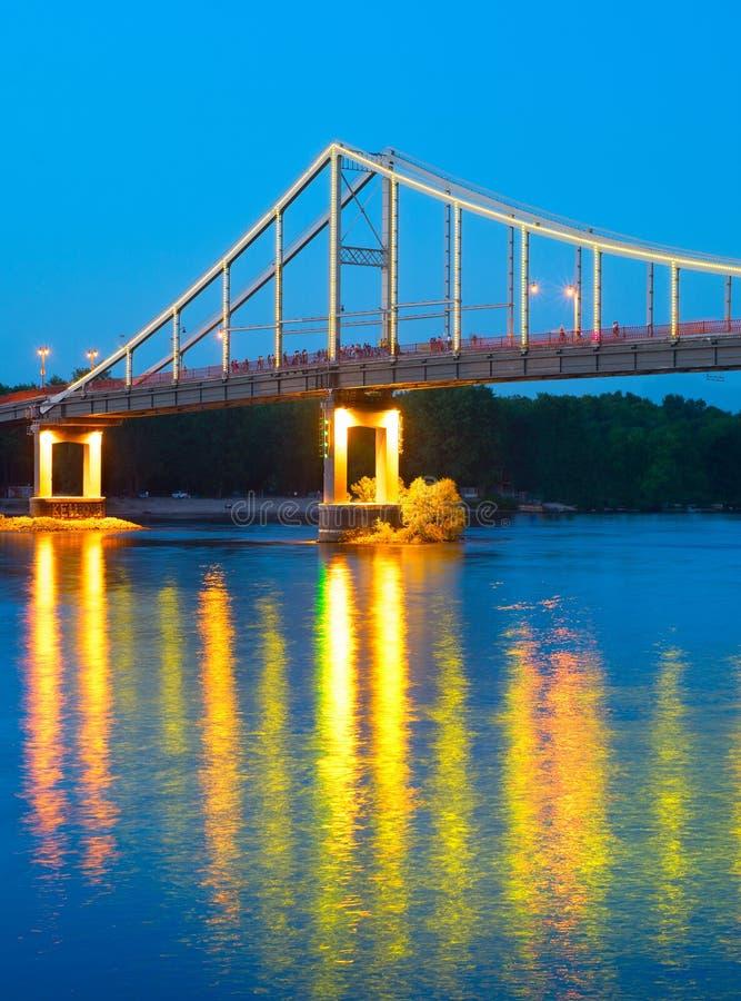 Мост Киева пешеходный стоковые фото