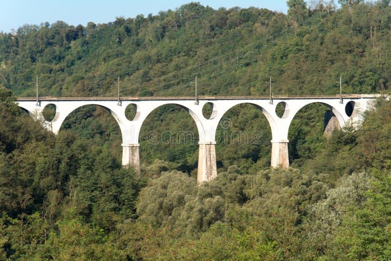 Мост 5 колец на Malnate, Варезе стоковые фото