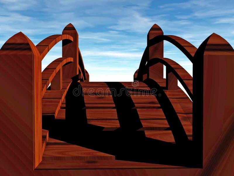 мост к неисвестню иллюстрация штока