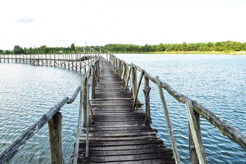 Мост к одичалому стоковые изображения rf