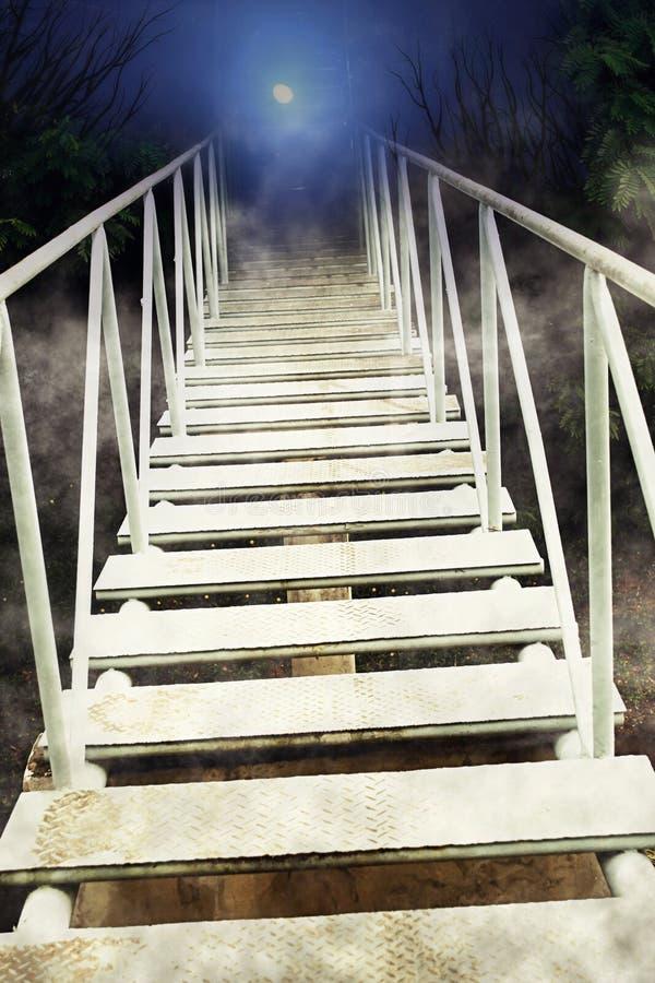 Мост к темноте стоковое фото rf