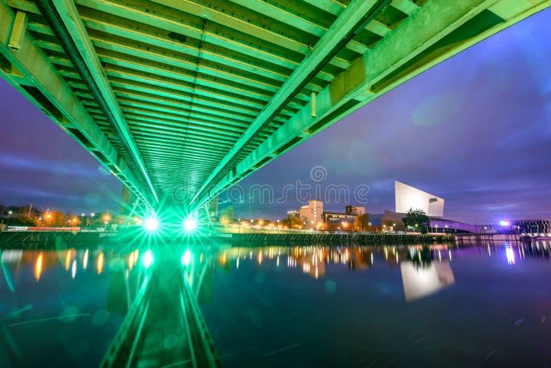 Мост Манчестер Великобритания тысячелетия стоковые фото