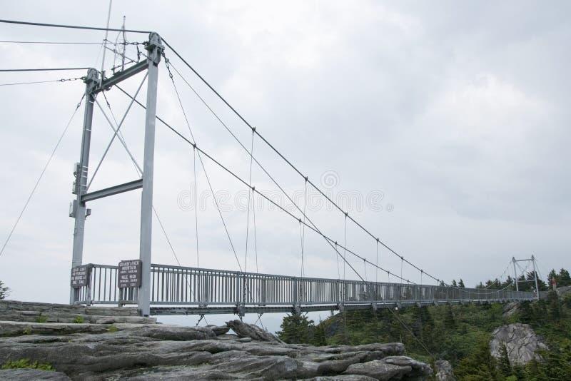 Мост мили высокий на горе деда, NC стоковые фотографии rf