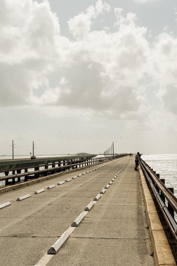Мост 7 миль в ключах Флориды стоковые фотографии rf