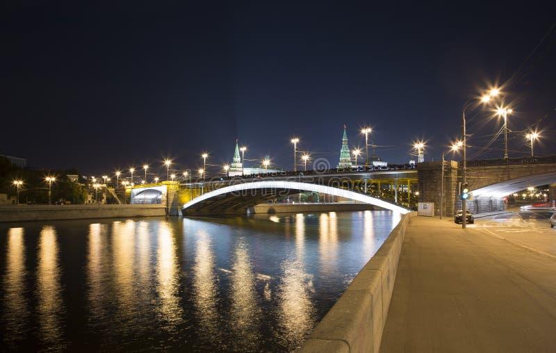 Мост моста Bolshoy Kamenny большой каменный, Москва, Россия стоковые изображения rf