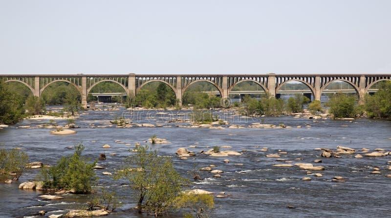 мост над рекой железной дороги стоковые фото